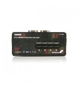 StarTech.com SV411KUSB switch-uri pentru tastatură, mouse și monitor (KVM) Negru