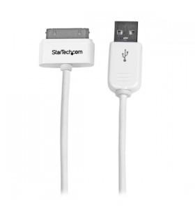 StarTech.com USB2ADC1M cabluri pentru telefoanele mobile Alb USB A Apple 30-pin 1 m