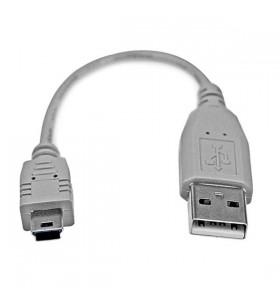StarTech.com USB2HABM6IN cabluri USB 0,152 m 2.0 USB A Mini-USB B Gri
