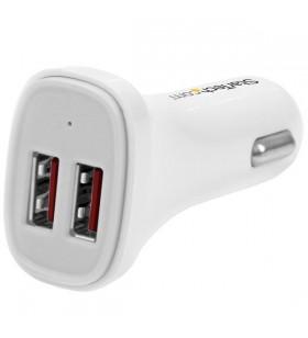 StarTech.com USB2PCARWHS încărcătoare pentru dispozitive mobile Auto Alb