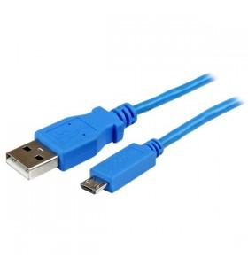 StarTech.com USBAUB1MBL cabluri USB 1 m 2.0 USB A Micro-USB B Albastru