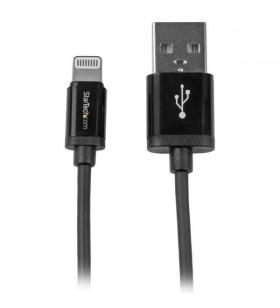 StarTech.com USBLT1MB cablu Lightning 1 m Negru