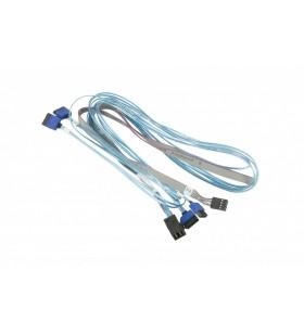 Supermicro CBL-SAST-0699 cabluri SATA 90 m Albastru, Gri
