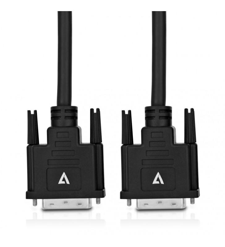 V7 V7DVIDVI-5M-BLK-1E cablu DVI DVI-D Negru