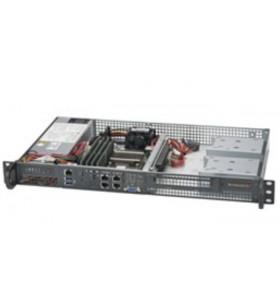 Supermicro 5018D-FN4T BGA 1667 Cabinet metalic (1U) Negru, Argint