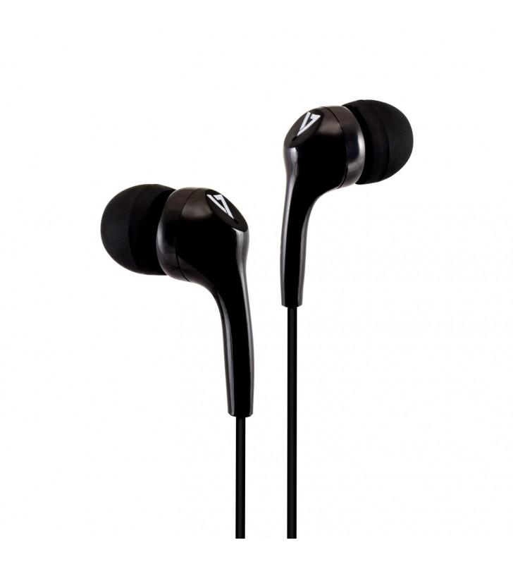 V7 HA105-3EB cască audio & cască cu microfon Căști În ureche Negru