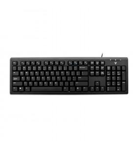 V7 KU200 tastaturi USB QWERTY Engleză SUA Negru