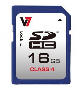 V7 VASDH16GCL4R-2E memorii flash 16 Giga Bites SDHC Clasa 4