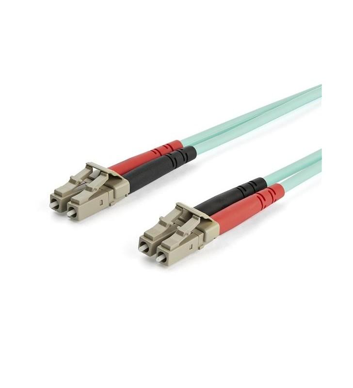 StarTech.com A50FBLCLC15 cabluri din fibră optică 15 m LSZH OM3 LC Aqua