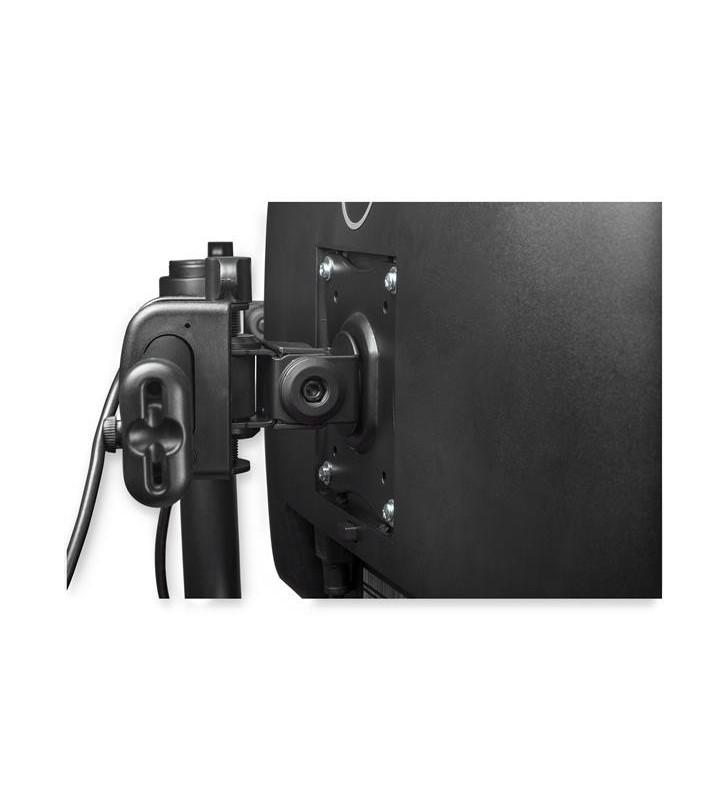 """StarTech.com ARMBARDUOG suporturi pentru birou pentru monitoarele LCD 68,6 cm (27"""") Suport Negru"""