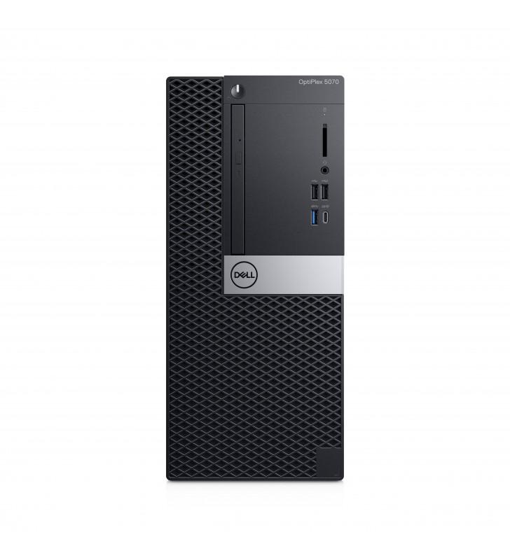 DELL OptiPlex 5070 Intel® Core™ i5 generația a 9a i5-9500 16 Giga Bites DDR4-SDRAM 256 Giga Bites SSD Mini Tower Negru PC-ul