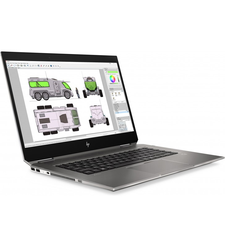"HP ZBook Studio x360 G5 Stație de lucru mobilă Negru 39,6 cm (15.6"") 1920 x 1080 Pixel Ecran tactil Intel® Core™ i7 generația a"