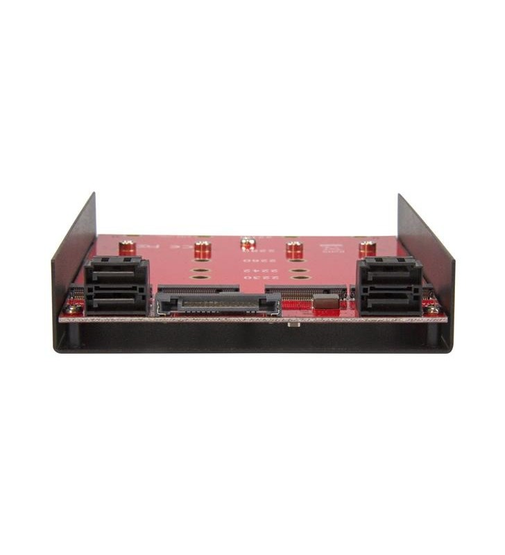 "StarTech.com 35S24M2NGFF sloturi 8,89 cm (3.5"") Casetă suport Negru, Roşu"