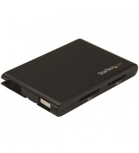 StarTech.com 2SD4FCRU3 cititoare de carduri Negru USB 3.2 Gen 1 (3.1 Gen 1)