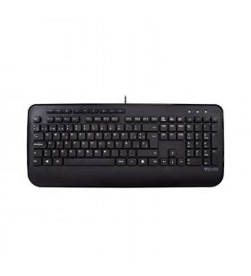 V7 KU300ES tastaturi USB QWERTY Spaniolă Negru