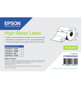 Epson High Gloss Label - Die-cut Roll  76mm x 51mm, 610 labels