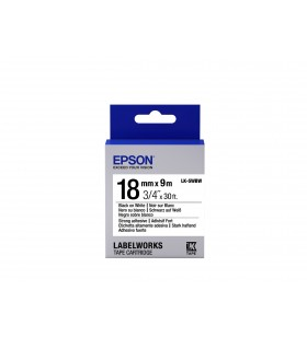 Epson Label Cartridge Strong Adhesive LK-5WBW Black White 18mm (9m)