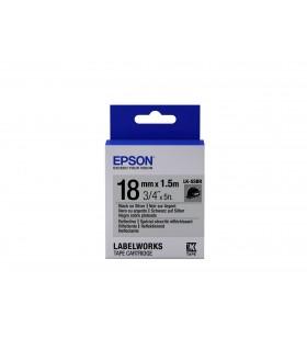 Epson LK-5SBR benzi pentru etichete Negru pe de argint