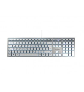 CHERRY KC 6000 SLIM tastaturi USB QWERTZ Germană Argint
