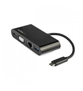 StarTech.com DKT30CVAGPD stații de andocare și replicatoare de porturi pentru calculatoare portabile Prin cablu USB 3.2 Gen 1