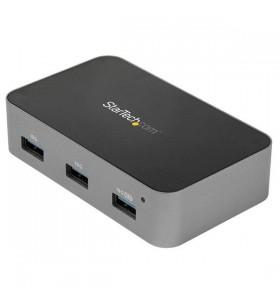 StarTech.com HB31C4AS hub-uri de interfață USB 3.2 Gen 2 (3.1 Gen 2) Type-C 10000 Mbit s Negru, Gri
