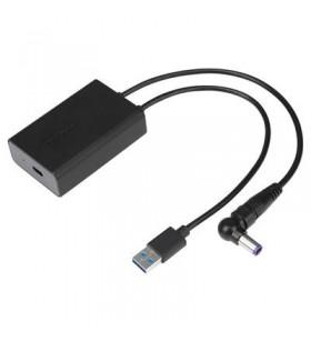 Targus ACA42EUZ cabluri prelungitoare cu mufe mamă tată USB 3.0 Type A + Targus 3-pin DC USB Type C Negru