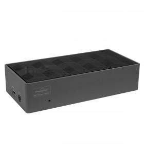 Targus DOCK190EUZ stații de andocare și replicatoare de porturi pentru calculatoare portabile Prin cablu Thunderbolt 3 Negru