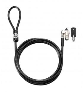 HP Keyed Cable Lock 10 mm cabluri cu sistem de blocare Negru 1,83 m