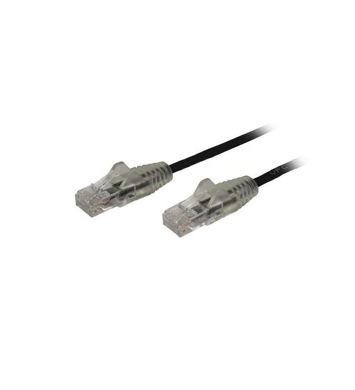 StarTech.com N6PAT250CMBKS cabluri de rețea 2,5 m Cat6 U UTP (UTP) Negru