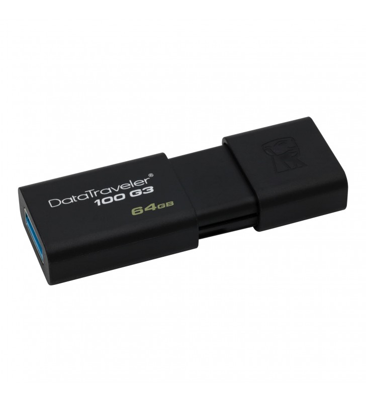Kingston Technology DataTraveler 100 G3 memorii flash USB 64 Giga Bites USB Tip-A 3.2 Gen 1 (3.1 Gen 1) Negru
