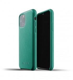 Husa de protectie Mujjo pentru iPhone 11 Pro, Piele, Alpine Green