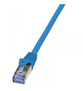 Patch Cable Cat.6A S/FTP blue 10m, PrimeLine