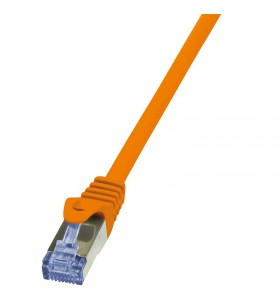 Patch Cable Cat.6A S/FTP orange 10m, PrimeLine