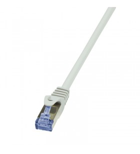 Patch Cable Cat.7 10G S/FTP, conector Cat.6A, GREY 7,5m