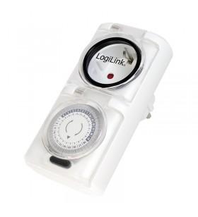 PRIZA LOGILINK  1 x priza Schuko 16A, 3680W, programabila mecanic, minim 30min - maxim 24h, outdoor, capac protectie copil, 2buc