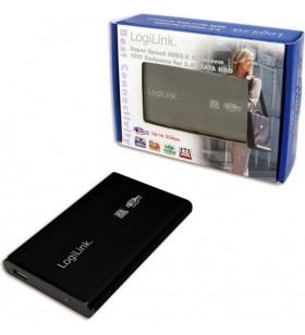 "RACK EXTERN LOGILINK 2.5"" HDD SATA to USB3.0, Aluminiu, black ""UA0106"""