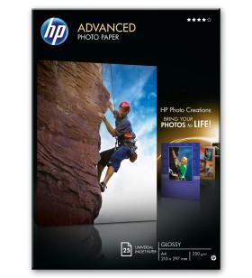 HP Q5456A hârtii fotografică Negru, Albastru, Alb Glasată A4