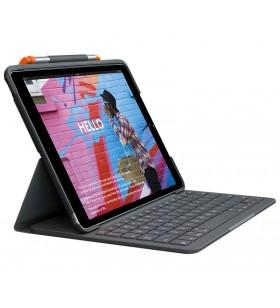 Logitech Slim Folio tastatură pentru terminale mobile QWERTY Daneză, Finlandeză, Norvegiană, Suedez Grafit Bluetooth