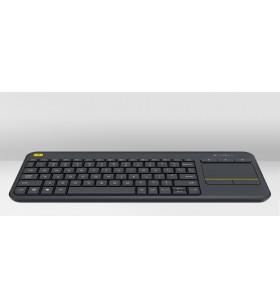 Logitech K400 Plus tastaturi RF fără fir QWERTZ Cehă Negru