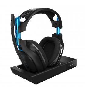Logitech A50 Wireless Headset + Base Station Căști Bandă de fixare pe cap Negru, Albastru