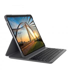 Logitech Slim Folio Pro tastatură pentru terminale mobile QWERTY Engleză Regatul Unit Grafit Bluetooth