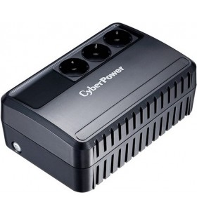 UPS CYBER POWER Line Int.  fara management,   650VA/ 360W, AVR, 3 x socket Schuko, indicatie status cu LED, 1 x baterie 12V/5Ah,