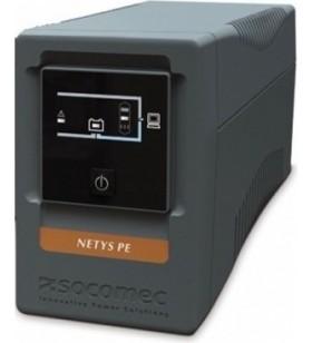 UPS SOCOMEC Line Int. cu management,  tower,   650VA/ 360W, AVR, 4 x socket IEC, indicatie status cu LED, 1 x baterie 12V/7A, Ba