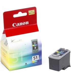 "Cartus cerneala Original Canon CL-51  Color, compatibil IP2200/MP150/MP160/MP170/MP180, 21 ml ""BS0618B001AA"""