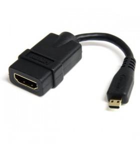 StarTech.com HDADFM5IN cablu HDMI 0,12 m HDMI Tip A (Standard) HDMI Tip D (Micro) Negru