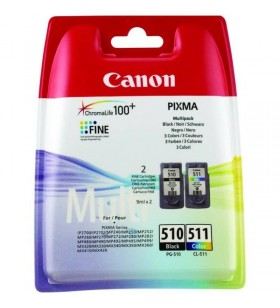 "COMBO Pack Original Canon PG-510/CL-511  Black+Color, pentru MP240, MP260, ""BS2970B010AA"""