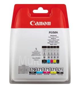 """Multi-Pack Original Canon MULTI, PGI-570B + CLI-571 set 5 buc Black+Color, compatibil MG5750/MG6850/MG7750 """"BS0372C004AA"""""""