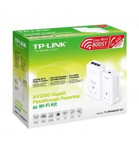 TP-LINK TL-WPA8630P KIT adaptoare de rețea pentru linii de alimentare cu electricitate 1200 Mbit s Ethernet LAN Wi-Fi Alb 2 buc.