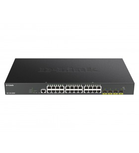 D-Link DGS-1250-28XMP switch-uri Gestionate L3 Gigabit Ethernet (10 100 1000) Negru Power over Ethernet (PoE) Suport