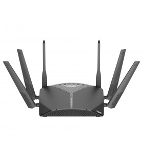 D-Link DIR-3060 router wireless Tri-band (2.4 GHz   5 GHz   5 GHz) Gigabit Ethernet Negru